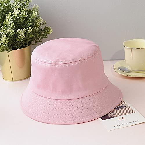 Bucket Hat Hut Damen Herren Fischerhut Männlich Studentinnen All-Match Hut Paar Hut Sonnencreme Sonnenhut-Pink_Child