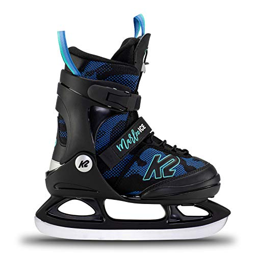 K2 Skates Mädchen Schlittschuhe Marlee Ice — camo - Blue — EU: 35 - 40 (UK: 3 - 7 / US: 4 - 8) — 25E0020