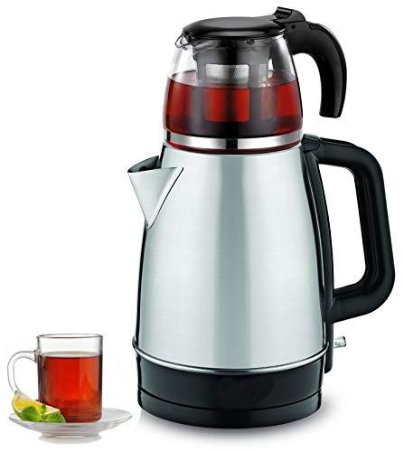 Teekocher | 100% BPA-Frei | 2200 Watt | Überhitzungsschutz | Kalkfilter | Sicherheitsglas | Teemaschine | Wasserkocher | Tea Maker | Water Kettle | Tee