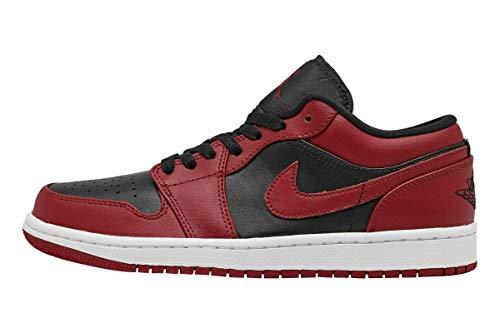 Nike Herren AIR Jordan 1 Low Basketballschuh, Gym Red Black White, 45 EU