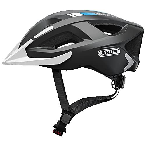 ABUS Aduro 2.0 Stadthelm - Allround-Fahrradhelm in sportivem Design für den Stadtverkehr - für Damen und Herren - 72548 - Grau/Weiß, Größe M