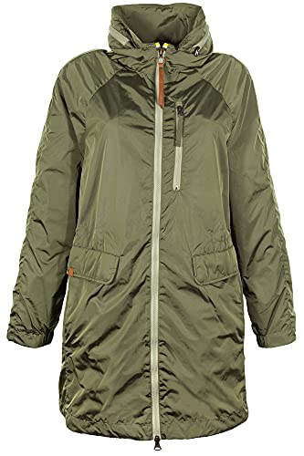 camel active Womenswear Damen Mantel, Grün (Olive 31), (Herstellergröße:38)