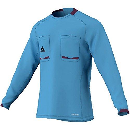 adidas Herren langärmliges Schiedsrichter Trikot Referee 12, Columbia Blue/Purple Beauty F10, XL, X19661