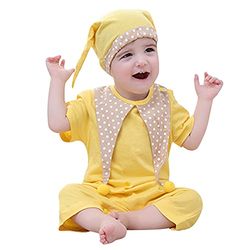 Kleinkind Cosplay Rollenspiele Kleidung Clown Strampler+Hut Sets Mädchen Jungen Kinder Neugeborenes Baby T-Shirt+Shorts Set Kurzarm Tops Oberteile Hose Sommer Kleidungsset Homewear Pyjamas Fotos