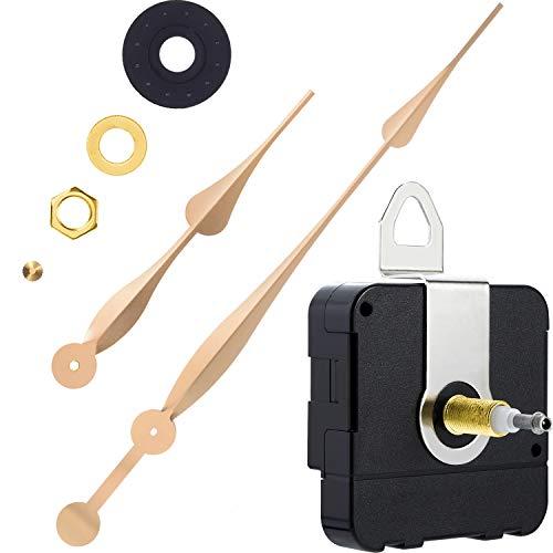 High Torque Long Shaft Uhrwerk Mechanismus mit 12 Zoll Langen Spaten Hände (Gold)