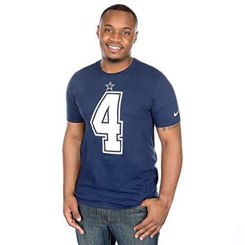 NFL Football T-Shirt Dallas Cowboys Dak Prescott #4 Trikot Jersey Receiver (3XL)