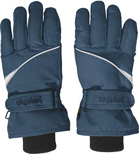 Playshoes Kinder Finger-handschuh Unisex Fingerhandschuhe mit Klettverschluss, Blau (Marine 11), 5 EU