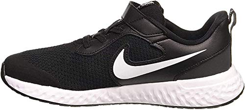 Nike Unisex-Kinder Revolution 5 (TDV) Sneaker, Schwarz (Black/Lemon Venom-Laser Blue 076), 26 EU