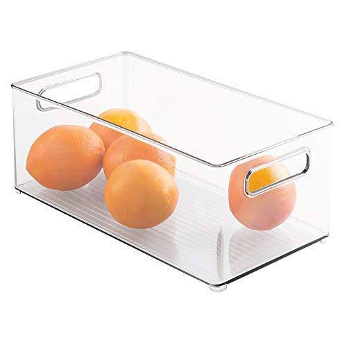 InterDesign Fridge/Freeze Binz Kühlschrankbox, großer Aufbewahrungsbehälter aus Kunststoff, durchsichtig