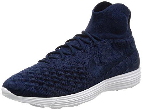 Nike Lunar Magista II Flyknit Schuhe Herren Sneaker Turnschuhe Blau 852614 401, Größenauswahl:45