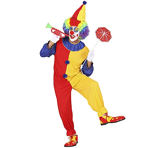 Widmann - Kostüm Clown, Overall, Hut, Karneval, Mottoparty
