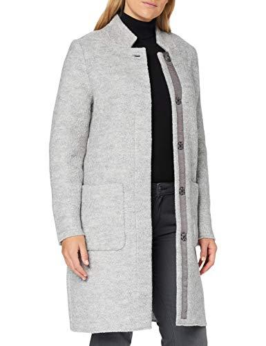 TOM TAILOR Damen Boucle Mantel Jacke, Mid Grey Melange, XXL EU