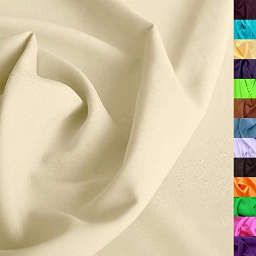 TOLKO 1m Modestoff | Dekostoff universal Stoff zum Nähen Dekorieren | Blickdicht, knitterarm | 150cm breit Meterware (Beige) Bekleidungsstoffe Dekostoffe Vorhangstoffe Nähstoffe Basteln Patchwork Deko