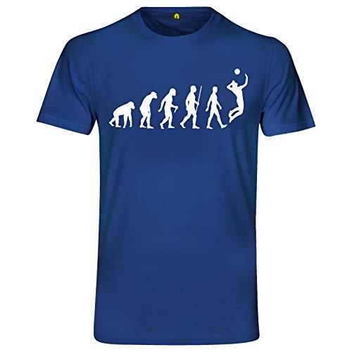 Evolution Volleyball T-Shirt | Sport | Netz | Ball | Beach | Strand | Sand Blau L