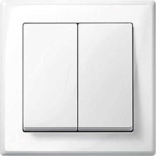 MERTEN M-SMART polarweiß glänzend (1x Serienschalter, 1x Rahmen 1fach, 1x Wippe Serie)