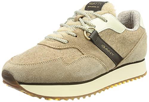 GANT Footwear Damen Bevinda Sneaker, mud Brown, 38 EU