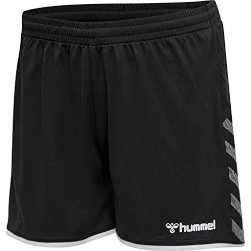 Hummel Damen hmlAUTHENTIC Poly Shorts Woman, Black/White, XL