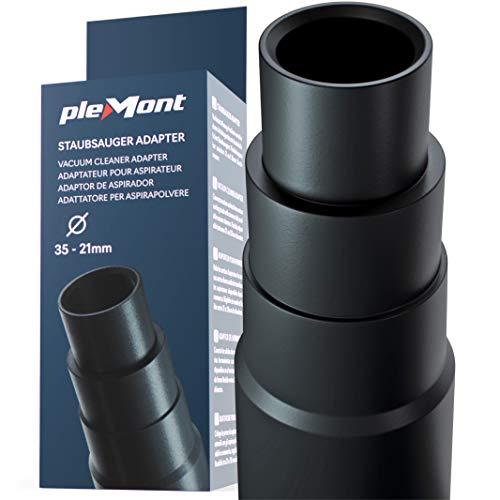 Plemont® Staubsauger Adapter für gängige Werkstattsauger - Schlauchadapter für Schleifmaschine, Stichsäge, Kreissäge, Exzenterschleifer - Reduzierstück