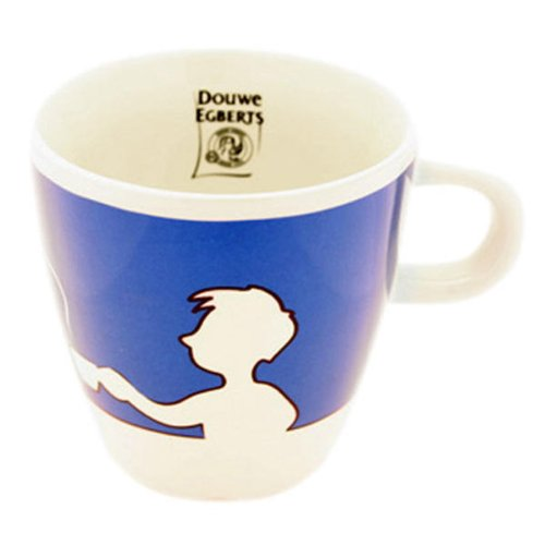 Douwe Egberts Design People, Kaffee Becher, Tee Tasse, Porzellan, Blau, 260 ml