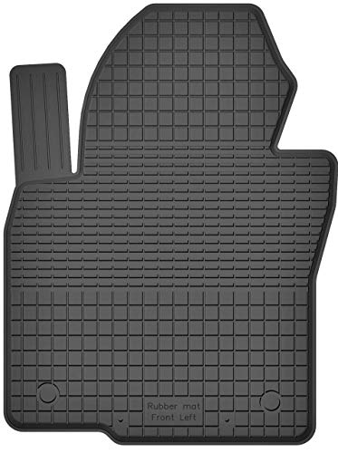 KO-RUBBERMAT 1 Stück Gummimatte Fußmatte Fahrer geeignet zur VW Golf V VI Plus (Bj. 2003-2013) ideal angepasst