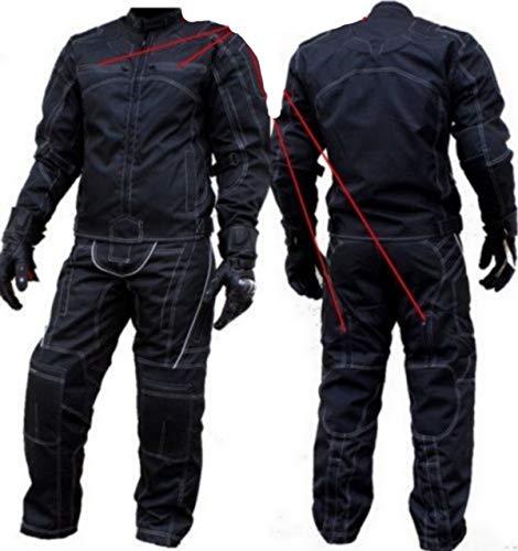 MOTORRADKOMBI Jacke + Hose - AUS Textil/Cordura für Motorrad Biker Chopper Cross