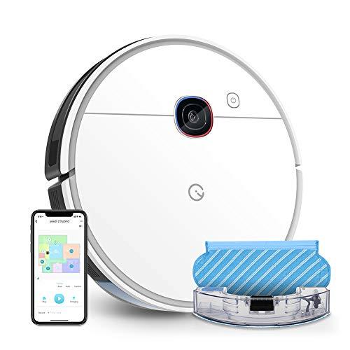yeedi 2 hybrid Saugroboter mit Wischfunktion, Visual-SLAM-Navigation, 2500 Pa Saugleistung, Raumkarte, 200 min Laufzeit, Kompatibel mit Alexa, Staubsauger Roboter für Tierhaare, Teppiche, Böden