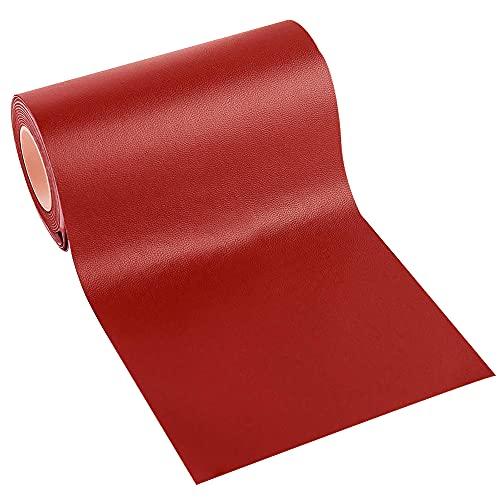 Leder Patch Kit Selbstklebende Lederflicken, Panngu Premium Selbstklebender Leder Reparatur Patch, Für Couch Sofa Risse, Verbrennungen, Autositze Zubehör ( Chinesischrot , 7.6cm * 152cm)