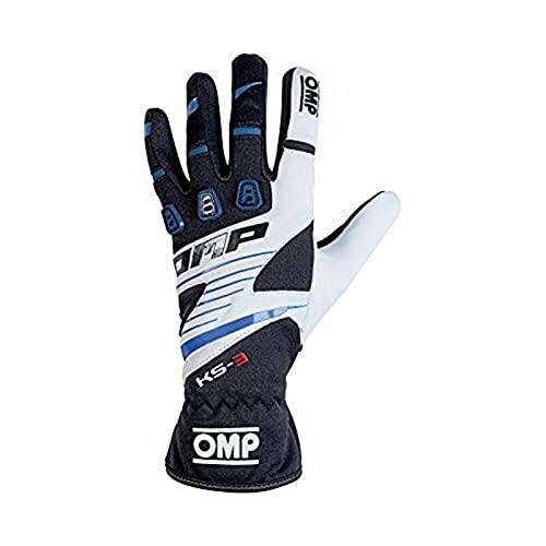 OMP OMPKK02743E175L My2018 Ks-3 Handschuhe, Weiß/Schwarz, Größe L
