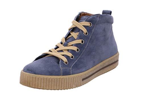 Gabor Damen Sneaker, Frauen Sneaker high,Wechselfußbett,Best Fitting, schnür-Stiefelette schnürschuh mid-Cut,winterblau,40 EU / 6.5 UK