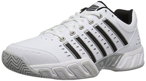 K-Swiss Performance Herren BIGSHOT LIGHT LTR Tennisschuhe, Weiß (Weiß/Schwarz/Silver), 43 EU
