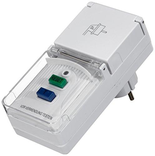 UNITEC 41759 Personenschutz-Adapter für innen und auߟen IP44 ws, weiߟ