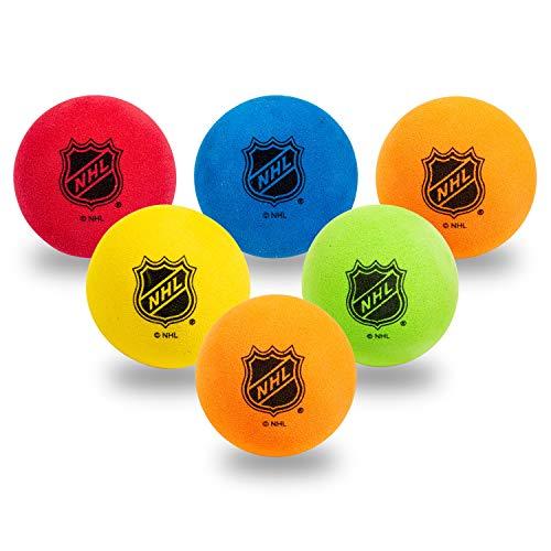 Franklin Sports Mini-Hockeybälle aus Schaumstoff, Kniehockeybälle für Kinder, 6 weiche Mini-Hockeybälle aus Schaumstoff