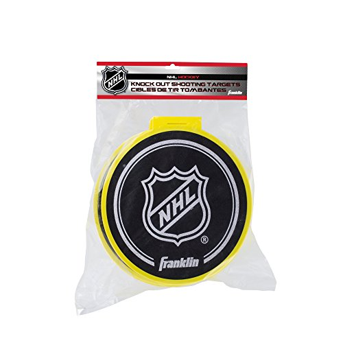 Franklin Sports Hockey-Schießziele, NHL – 4 Knock Out Zielscheiben mit Toraufsätzen
