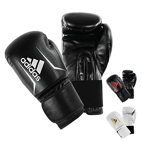 adidas Erwachsene Speed 50 Boxhandschuhe, schwarz/weiß, 14 oz