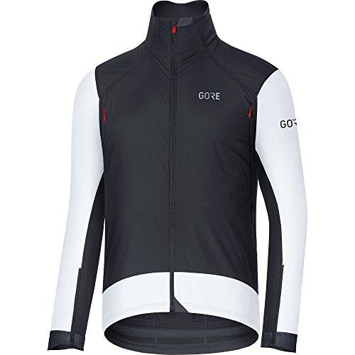 GORE Wear Winddichte Herren Rennrad-Jacke, C7 GORE WINDSTOPPER Pro Jacket, S, Schwarz/Weiß, 100269