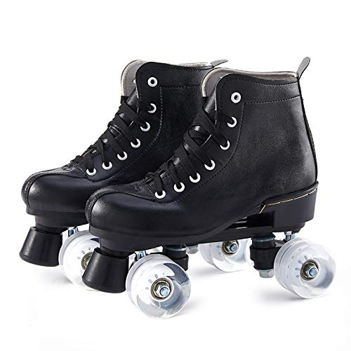 Coomir Roller Skates, Rollschuhschuhe, Skates, Rollschuhe für Damen/Herren Skate Gear Softboot Rollschuhe Retro High Top Design Indoor Outdoor Rollschuhe mit Licht