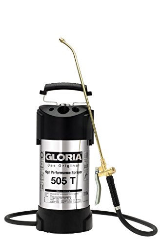 GLORIA 5L Edelstahl Hochleistungssprühgerät, 505 T