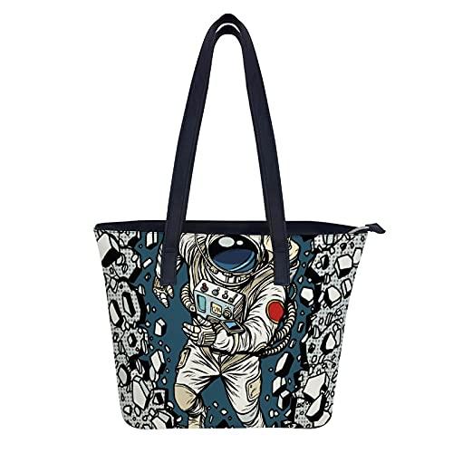 Hobo-Taschen für Damen PU-Leder-Geldbörsen und Handtaschen Großer Hobo, Mann, der die Mauer durchbricht