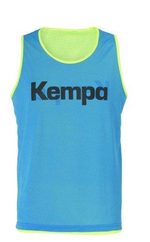 FanSport24 Kempa Wende-Markierungsleibchen, Fluo gelb/blau Größe M/L