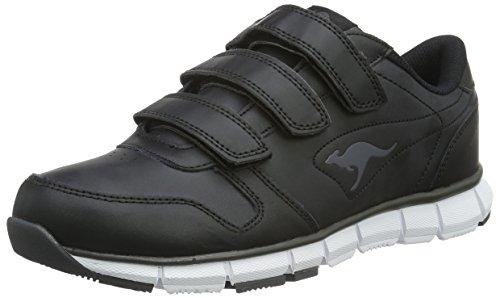 KangaROOS Unisex-Erwachsene K-BlueRun 700 V B Sneaker, Black/Dark Grey 0522, 45 EU