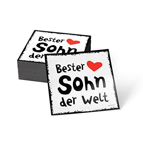how about tee? Magnet-Sticker: Bester Sohn der Welt - Kühlschrankmagnet mit Spruch