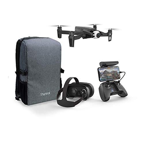 Parrot Anafi - FPV Drohnen Set - Leichter und Faltbarer Quadcopter - FPV Cockpitbrille 3 für Immersive Flüge - VR-Brille - Full HD Live Streaming - Umfangreiches und kompaktes Set mit Rucksack