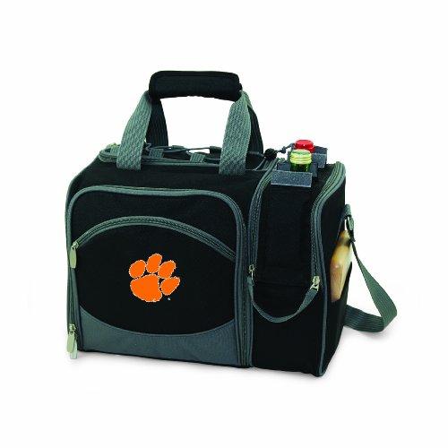 PICNIC TIME NCAA Clemson Tigers Malibu Picknick Tote mit Deluxe Picknick Service für Zwei