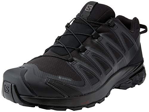 Salomon Herren XA PRO 3D V8 GTX, Leichte Schuhe für Trail Running und Wandern, Wasserdicht, Schwarz (Black/Black/Black), 46 2/3 EU