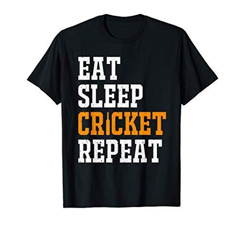 Eat Sleep Cricket Repeat Männer Kinder Spieler Geschenk T-Shirt