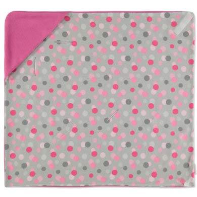 HOBEA-Germany Einschlagdecke für den Sommer, Farben Sommerdecken:pink mit Punkten
