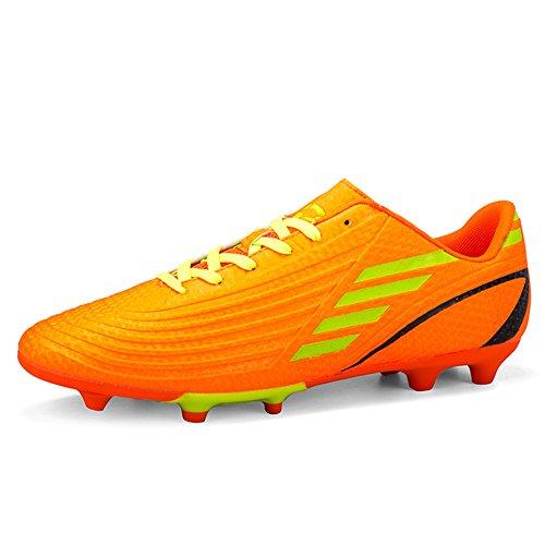 DoGeek Fußballschuhe Kinder Microfaser Cleats Beruf Fußballschuhe Für Herren,Orange,34EU