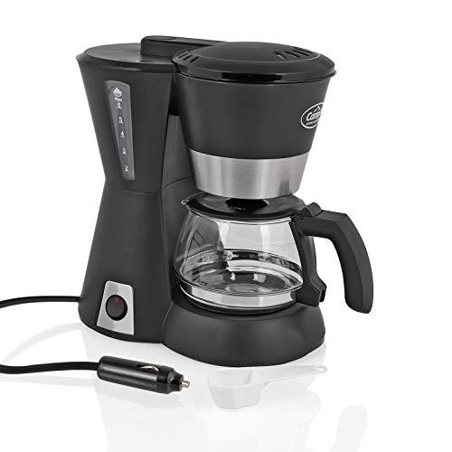 Camp4 Kaffeemaschine 12 Volt, 170W, 600ml, schwarz für Camping, Auto, Boot
