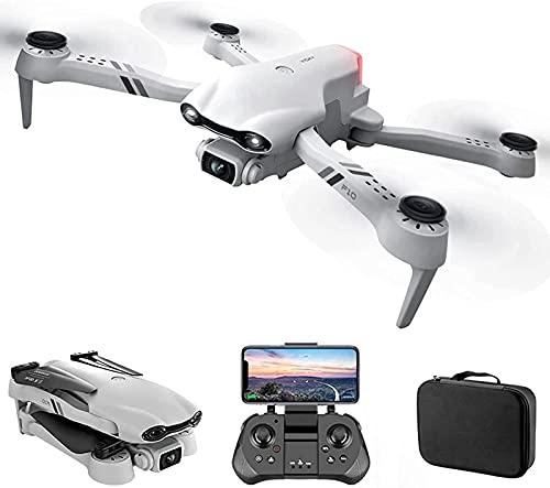 J-Clock GPS WiFi FPV-Drohne mit 4K-Dual-Kamera-Mini-Drohnen mit VR-Brille Faltbare Drohne RC Quadcopter-Gesten-Foto Folgen Sie Mir EIN Schlüssel, um nach Hause zurückzukehren, Flugbahn, 4 Batterie