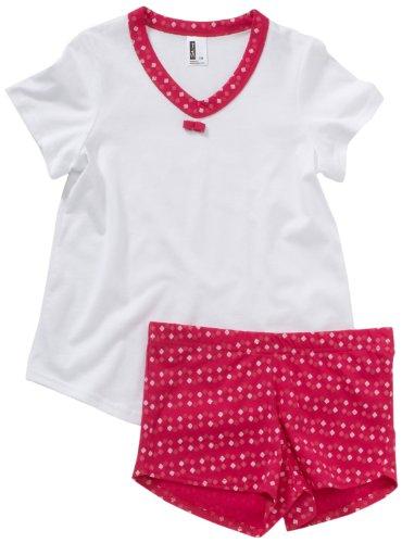 Skiny Mädchen Nachtwäsche/Pyjama Magic Square Sleep Girls / 5490 Girls Pyjama kz, Gr. 128, Mehrfarbig (1466 Hibiscus)